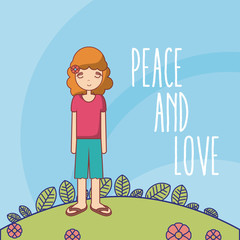 Hippie cute cartoon