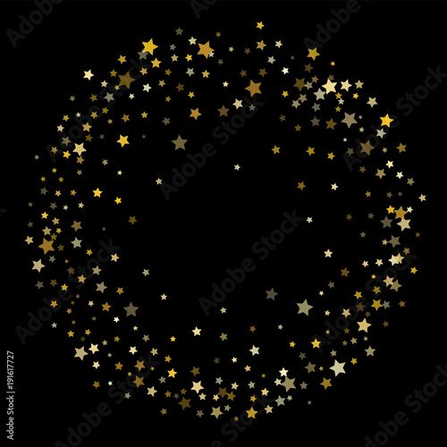 gold dust sparkles premium star scatter vector background falling stars garland frame