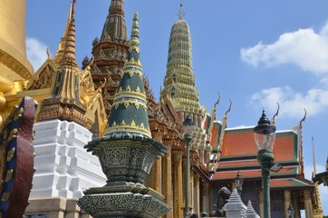 Toitures du palais Royal de Bangkok