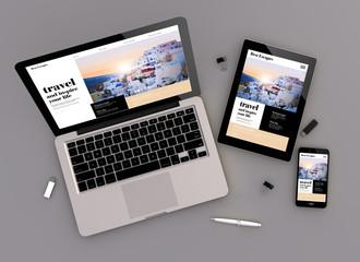 responsive design travel website zenith view
