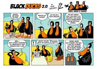 Black Ducks Cartoon Comic Strip 2 episode 1