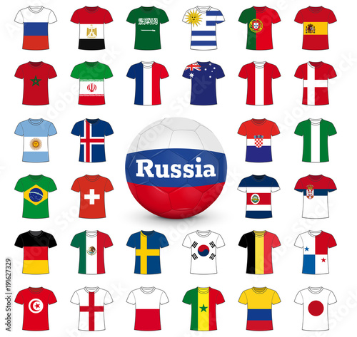 Maillots équipes Foot Russie Stock Image And Royalty Free