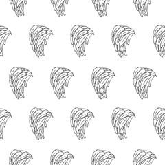 banana branch seamless vector pattern