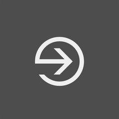 Arrow flat vector icon. Pointer flat vector icon