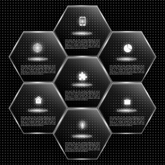 Infographics on a black background