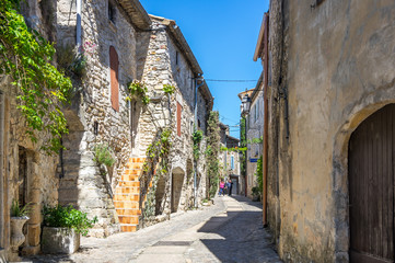 The medieval street of Aigueze
