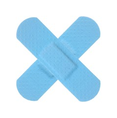 Various LIGHT BLUE Strips of ADHESIVE BANDAGES PLASTER - Medical Equipment