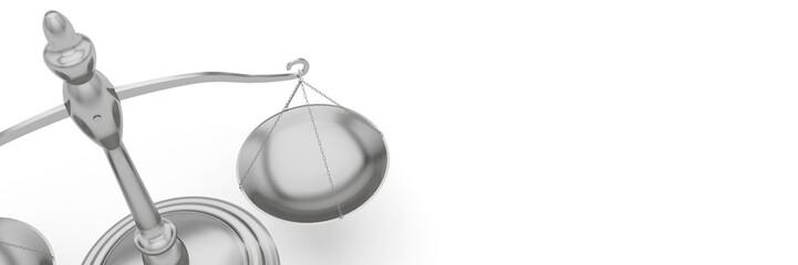 Balance justice bannière panoramique