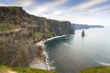Wall Mural - Cliffs of Moher in Ireland at cloudy day, Co. Clare