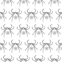 spider seamless vector pattern