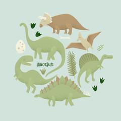 Dinosaurs vector design, tyrannosaurus rex
