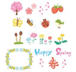春のイメージアイコンイラストセット