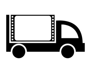 negative film boxcar transportation vehicle ride drive image vector icon