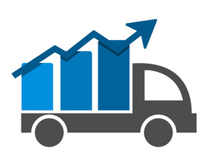 boxcar chart diagram graph transportation vehicle ride drive image vector icon