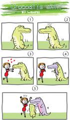 crocodile comic story