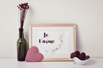 text je t aime, I love you in french