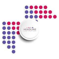 Brochure header layout template