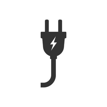Electric plug icon. Vector illustration.