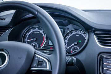 dashboard close up