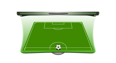 Fototapete - Football background with soccer ball