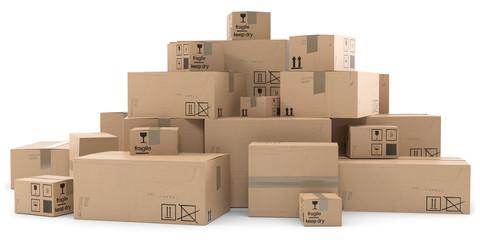 3d Pakete Haufen
