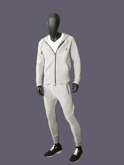 Full-length man mannequin.