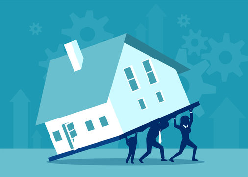 Family carrying heavy mortgage debt
