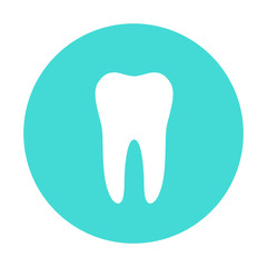 White molar tooth poster template