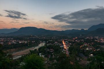 View from Mount Phousi - Luang Prabang northern Laos