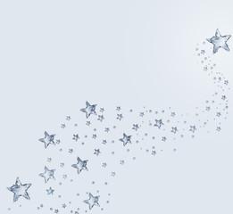 Blue Water Stars Pattern