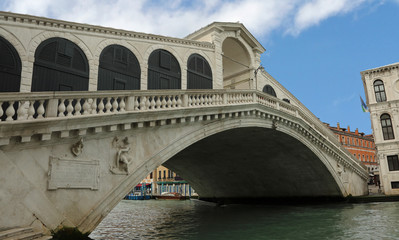 Rialto bridge in Venice without people