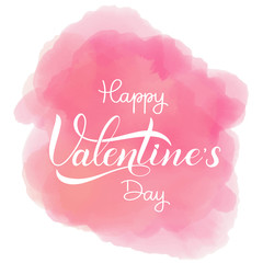 Happy Valentines Day romantic text, Calligraphic i loveyou lettering.