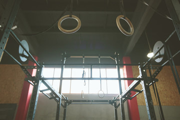 Crossfit gym background for sport