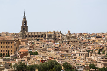 A view of beautiful medieval Toledo, Spain