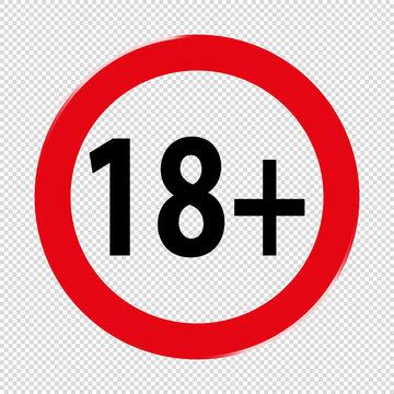 Altersfreigabe 18 Plus - Vektor Symbol