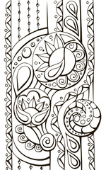 black and white decorative vector pattern