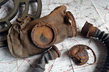 Soviet WWII gas mask.Found with metal detector on the battlefield near Kiev