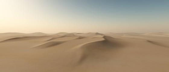 Desert of sand, panorama