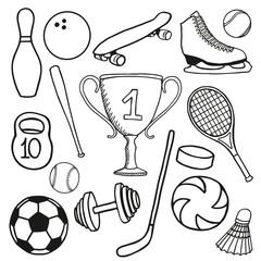 Set sports stock illustration