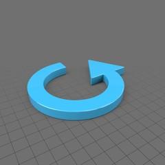 Thin circular curved arrow