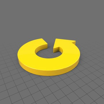 Wide circular curved arrow