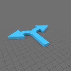 Thin split arrow