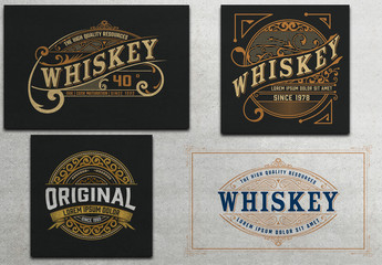 4 Intricate Vintage Labels 1
