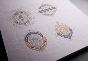 4 Intricate Vintage Logos 1