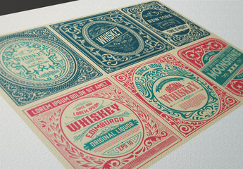 6 Intricate Vintage Labels 1