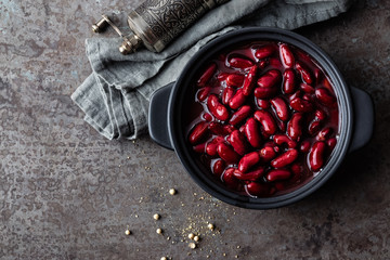 Red kidney beans boiled