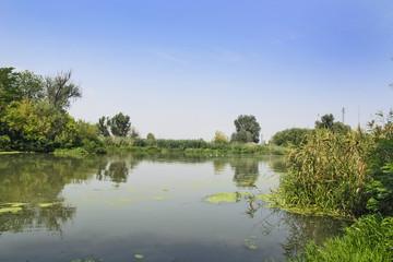 Slow large river