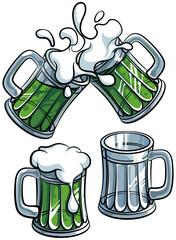 Set of beer glasses