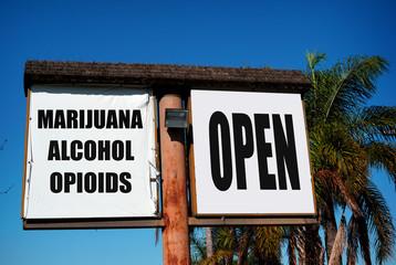 drug rehab clinic sign