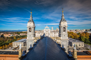 Cathedral of Saint Mary the Royal of La Almudena. Madrid is a popular tourist destination of Europe